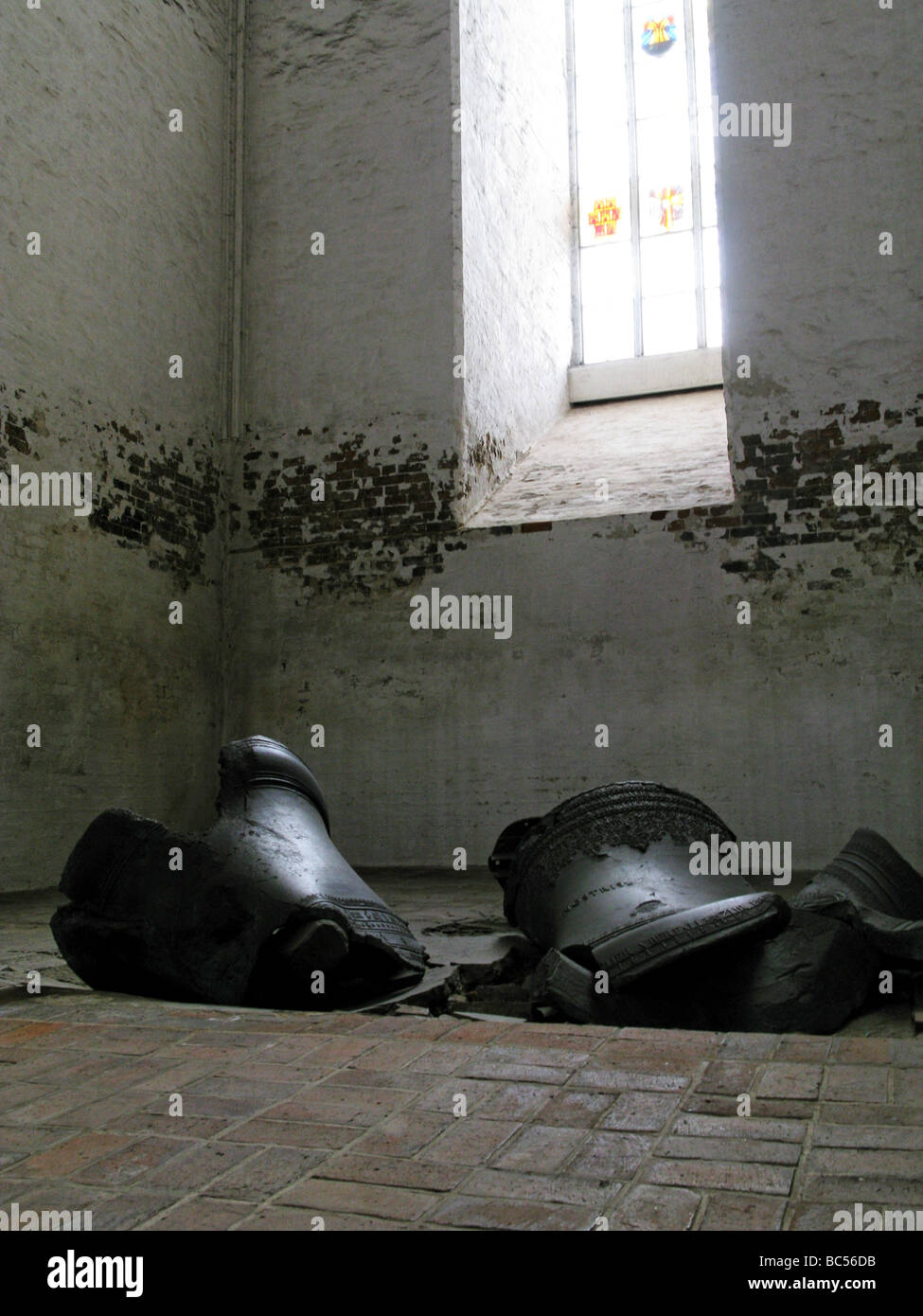 The Fallen Bells of St Mary s Lubeck Germany - Stock Image