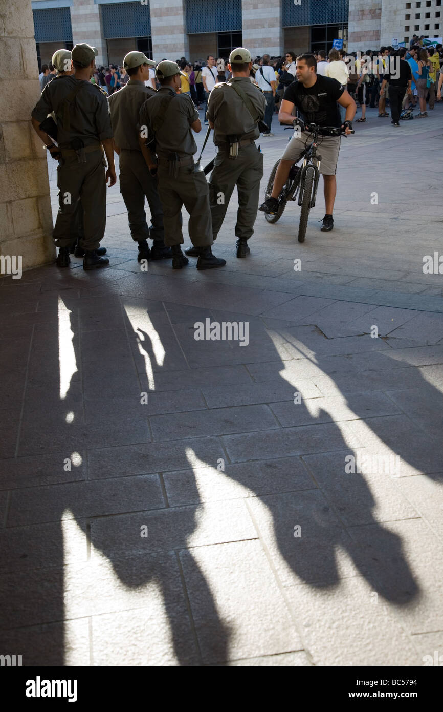 Secular Residents of Jerusalem Hold a Demonstration in Support of Freedom of Choice in Jerusalem and Against Religious - Stock Image