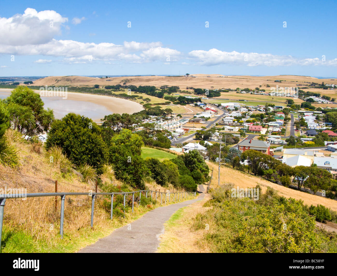 Steep path to the top of The Nut Stanley Tasmania Australia - Stock Image