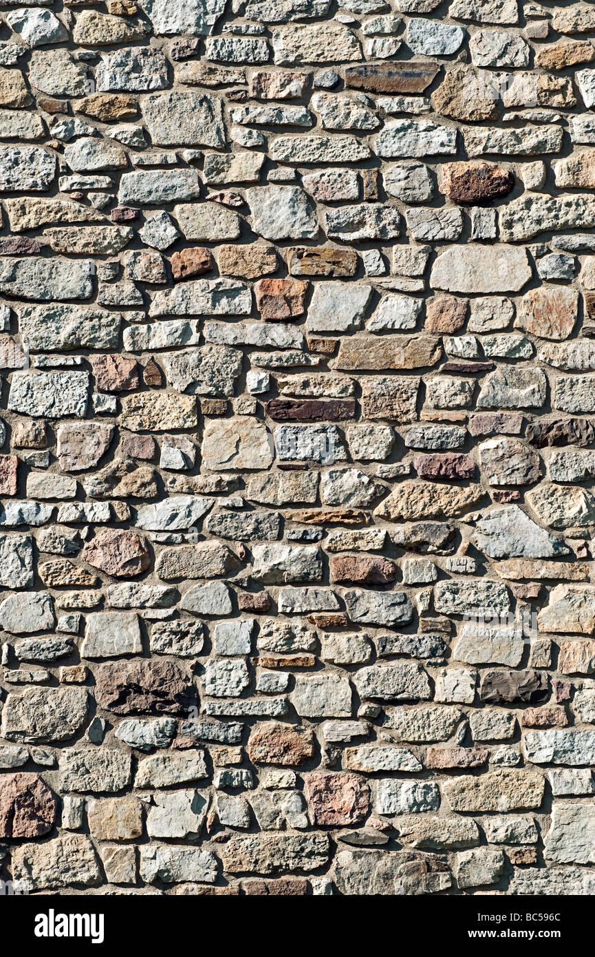 Fieldstone wall - Stock Image