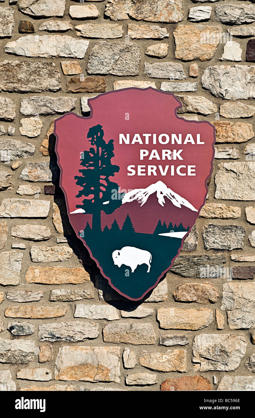 National park sign, USA - Stock Image