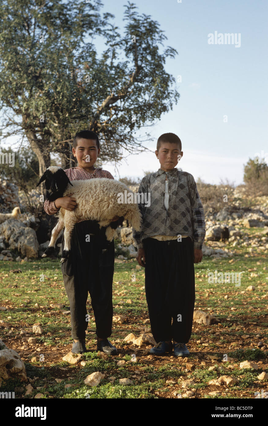 village-kids-with-a-lamb-at-kanytelis-an
