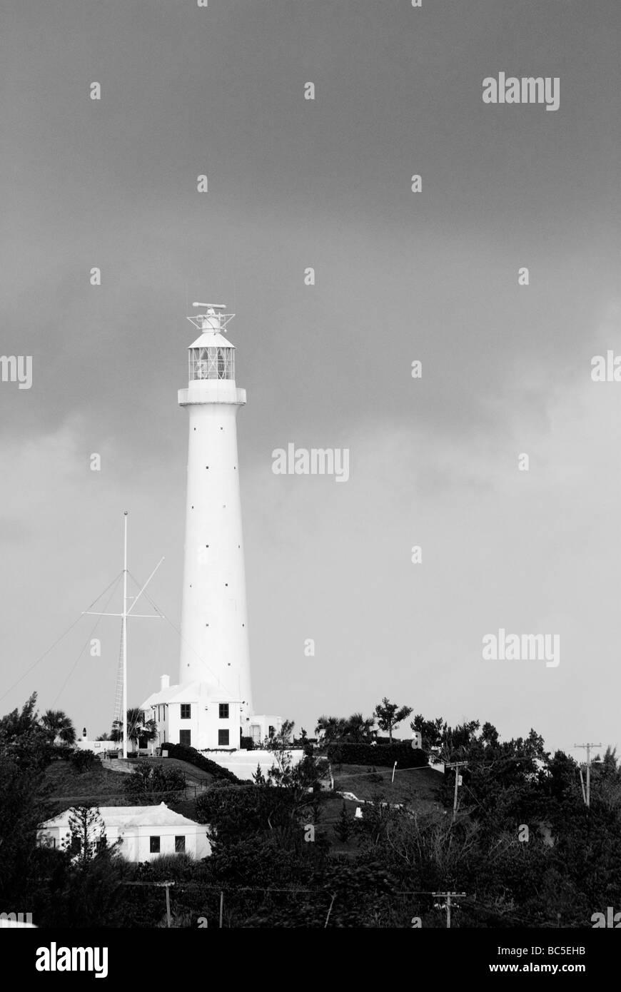 The Gibbs Hill Lighthouse Hamilton Bermuda - Stock Image
