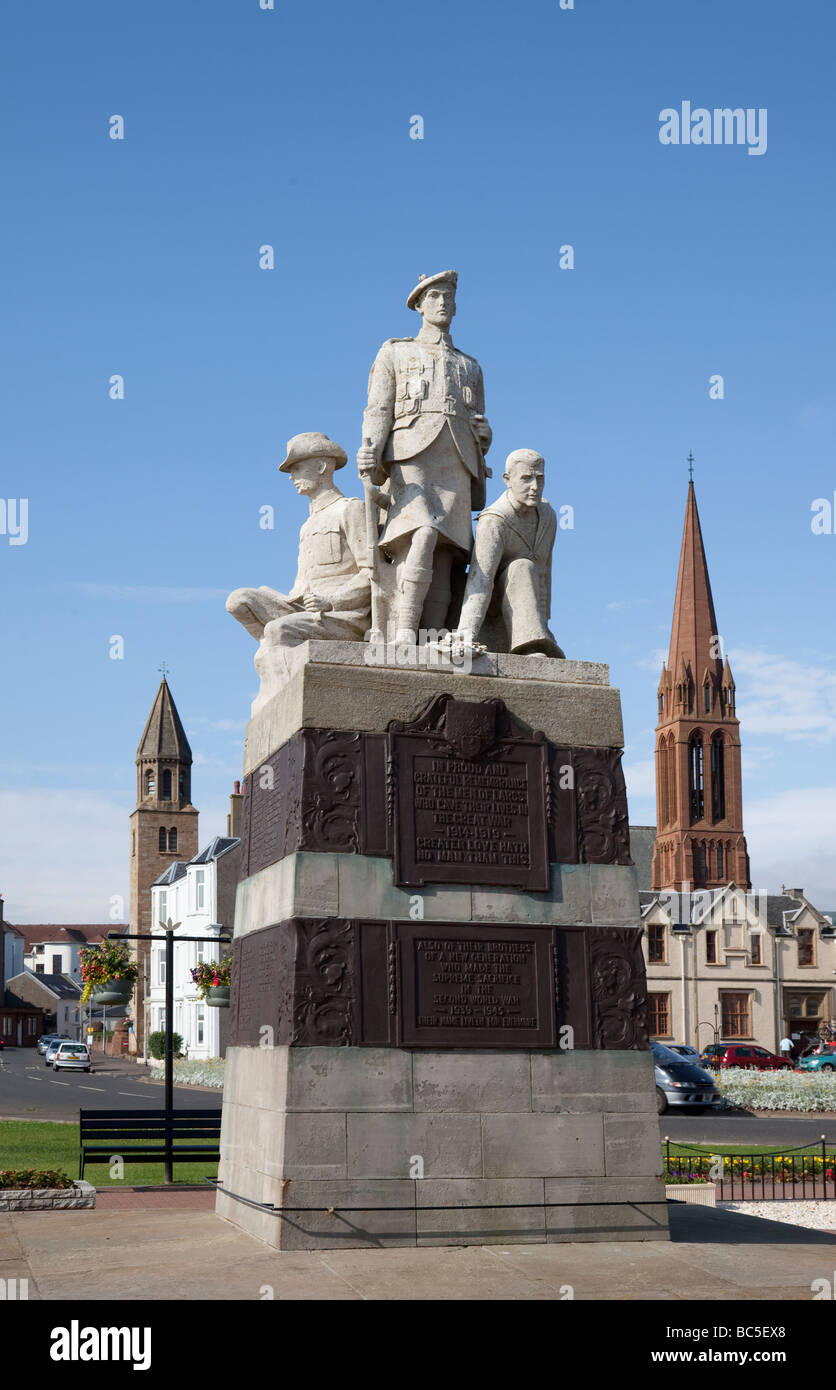 Largs War Memorial, 1921, by Kellock Brown, North Ayrshire, Scotland - Stock Image