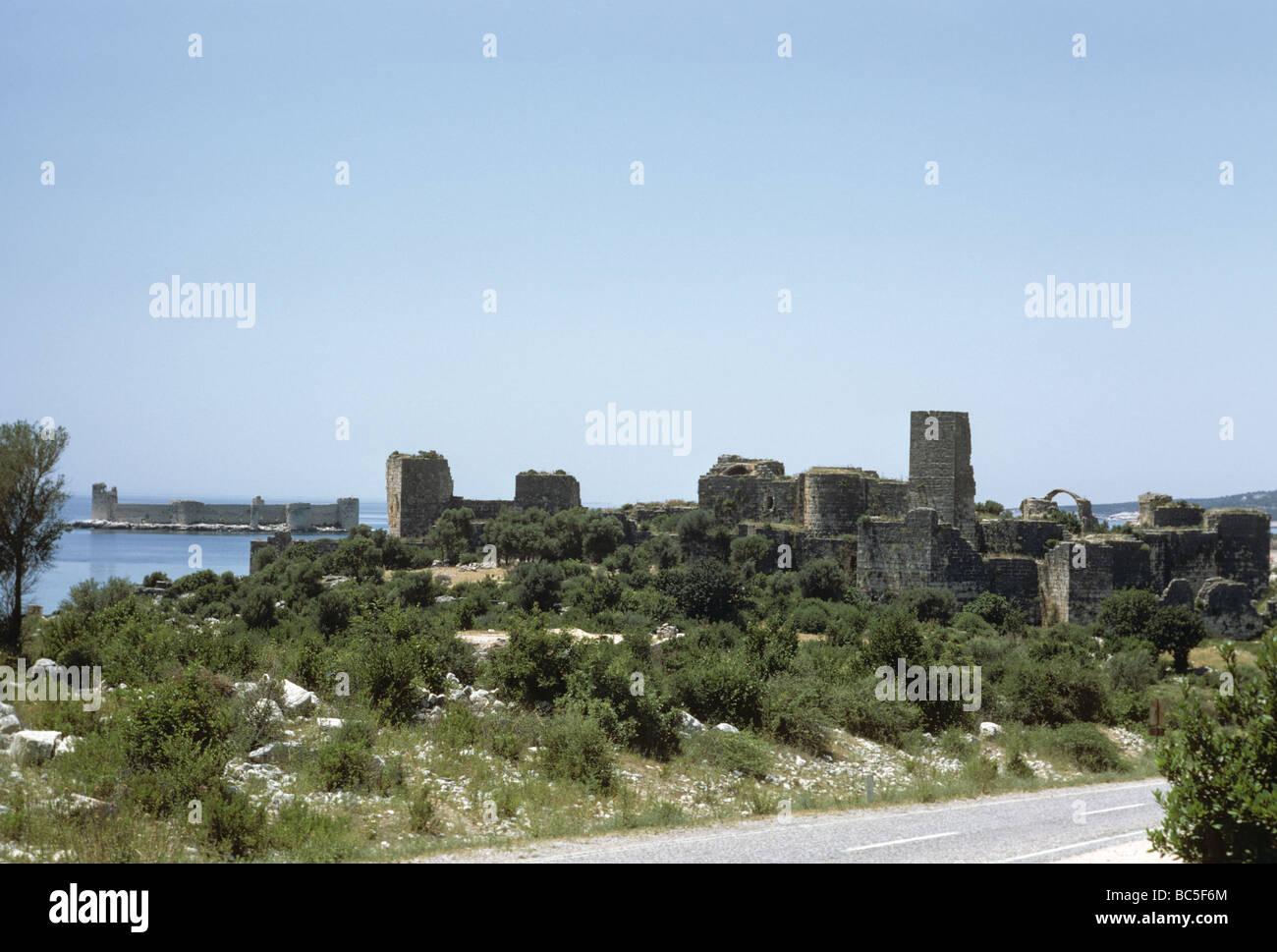 Kızkalesi and the sea castle Turkey 690601 023 Stock Photo