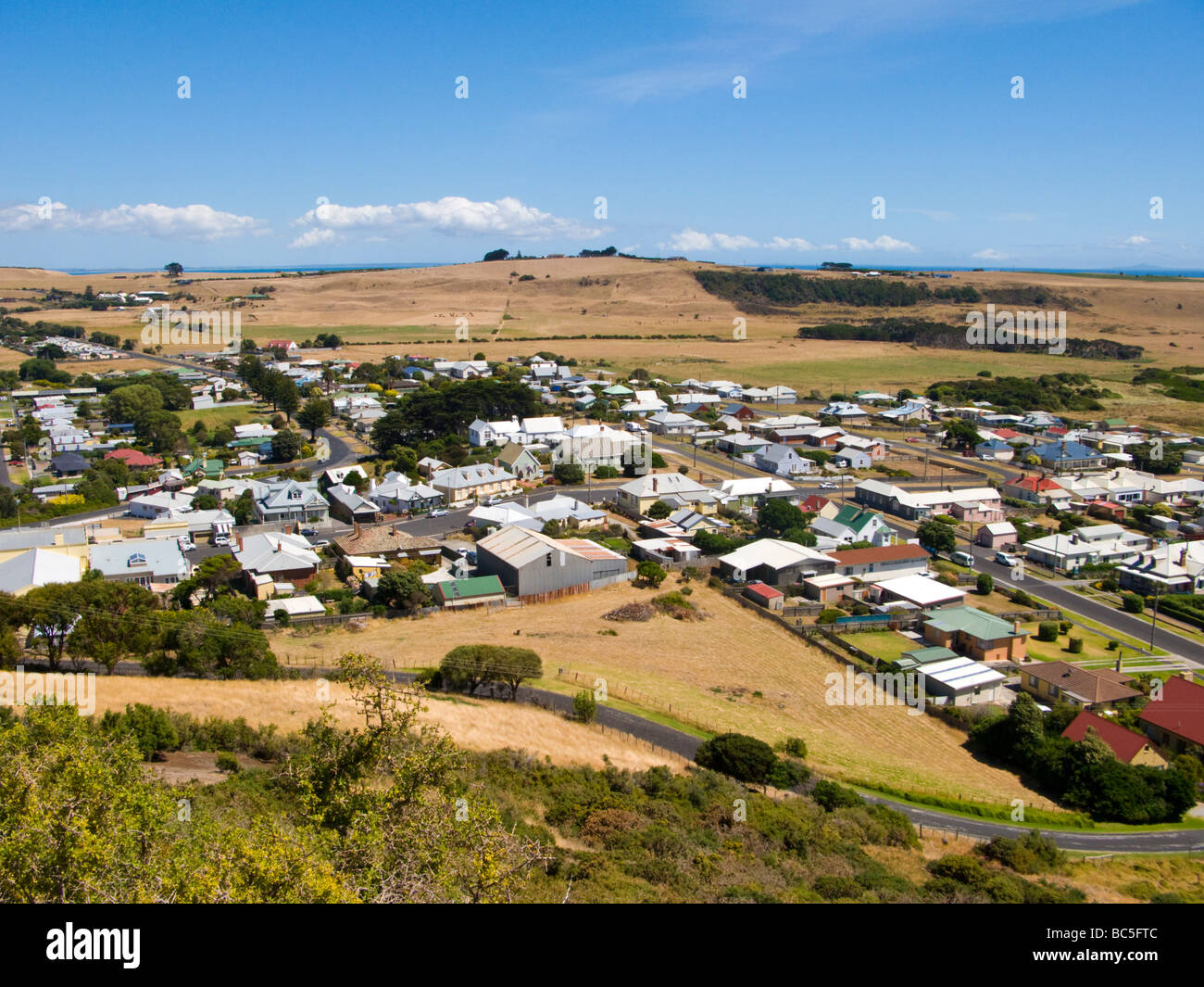 View from part way up The Nut Stanley Tasmania Australia - Stock Image