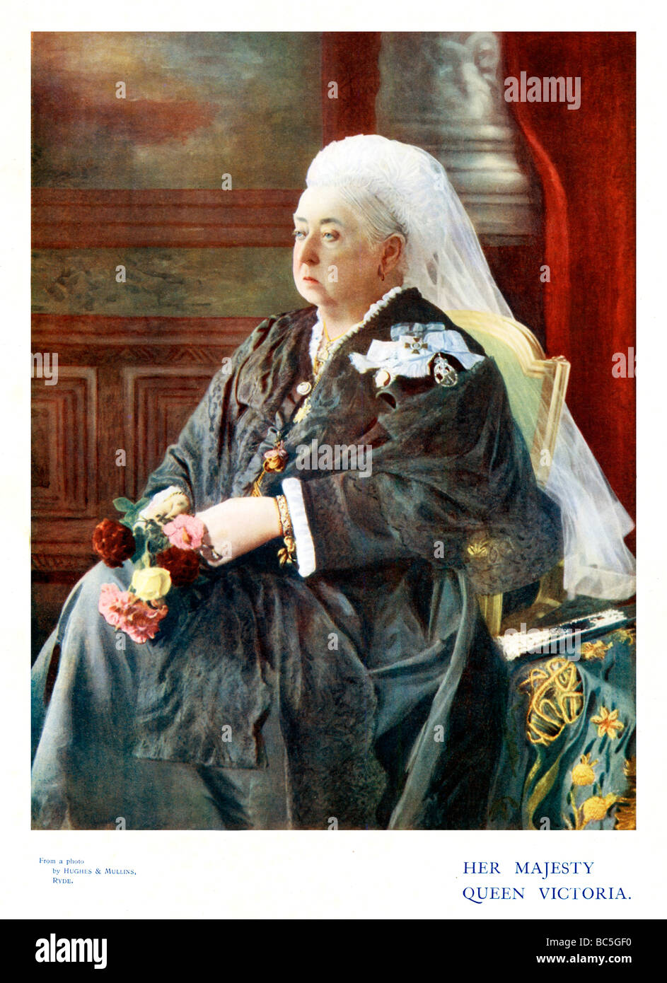 Queen Victoria 1900 colour portrait photo of the Empress towards the end of her long reign - Stock Image