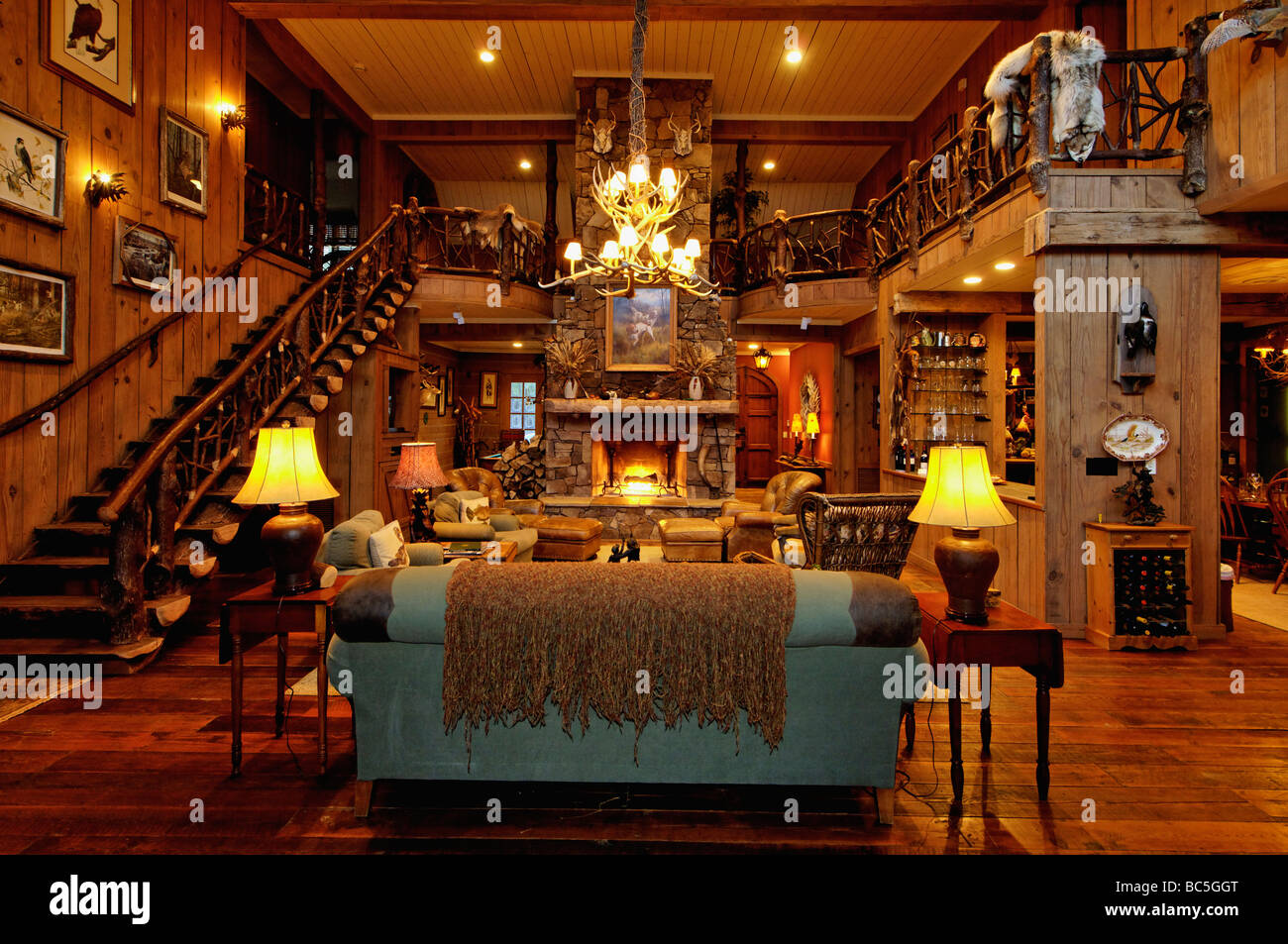 Hunting Lodge Interior High Resolution Stock Photography And Images Alamy