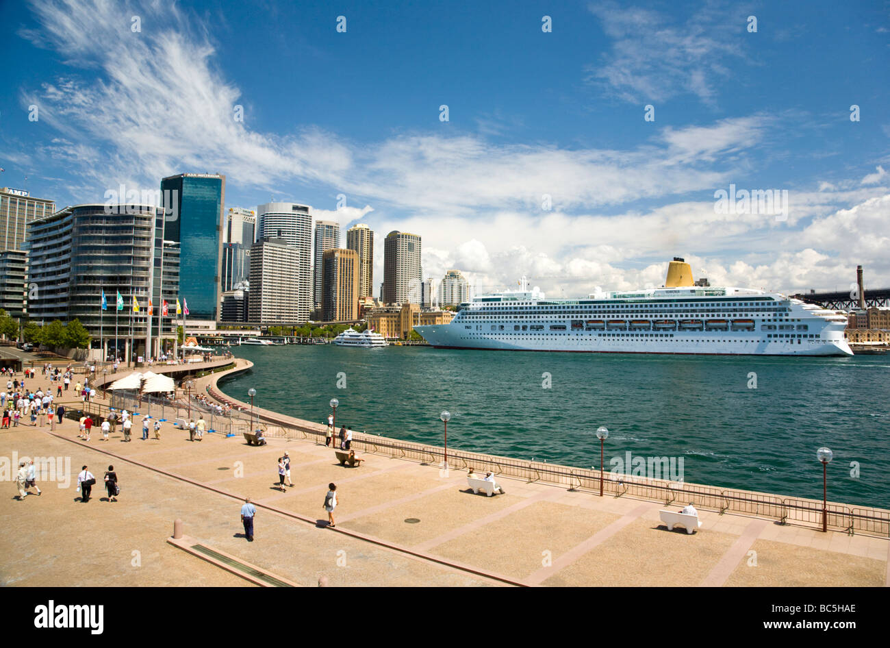 Circular Quay and Sydney Cove, Sydney New South Wales Australia - Stock Image