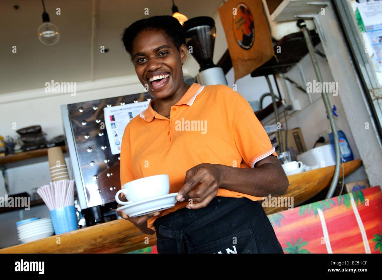 nambawan cafe port vila vanuatu - Stock Image