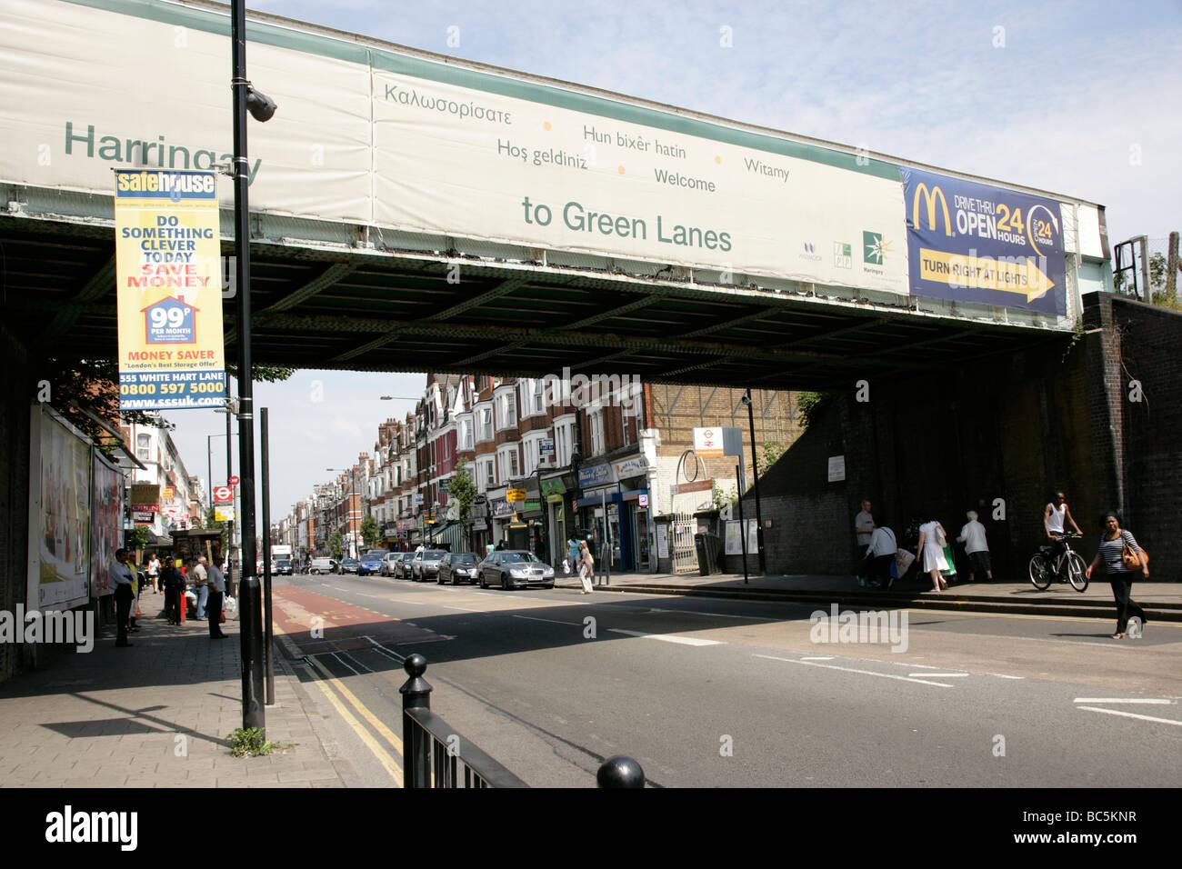 Green Lanes in Haringey, London, UK - Stock Image