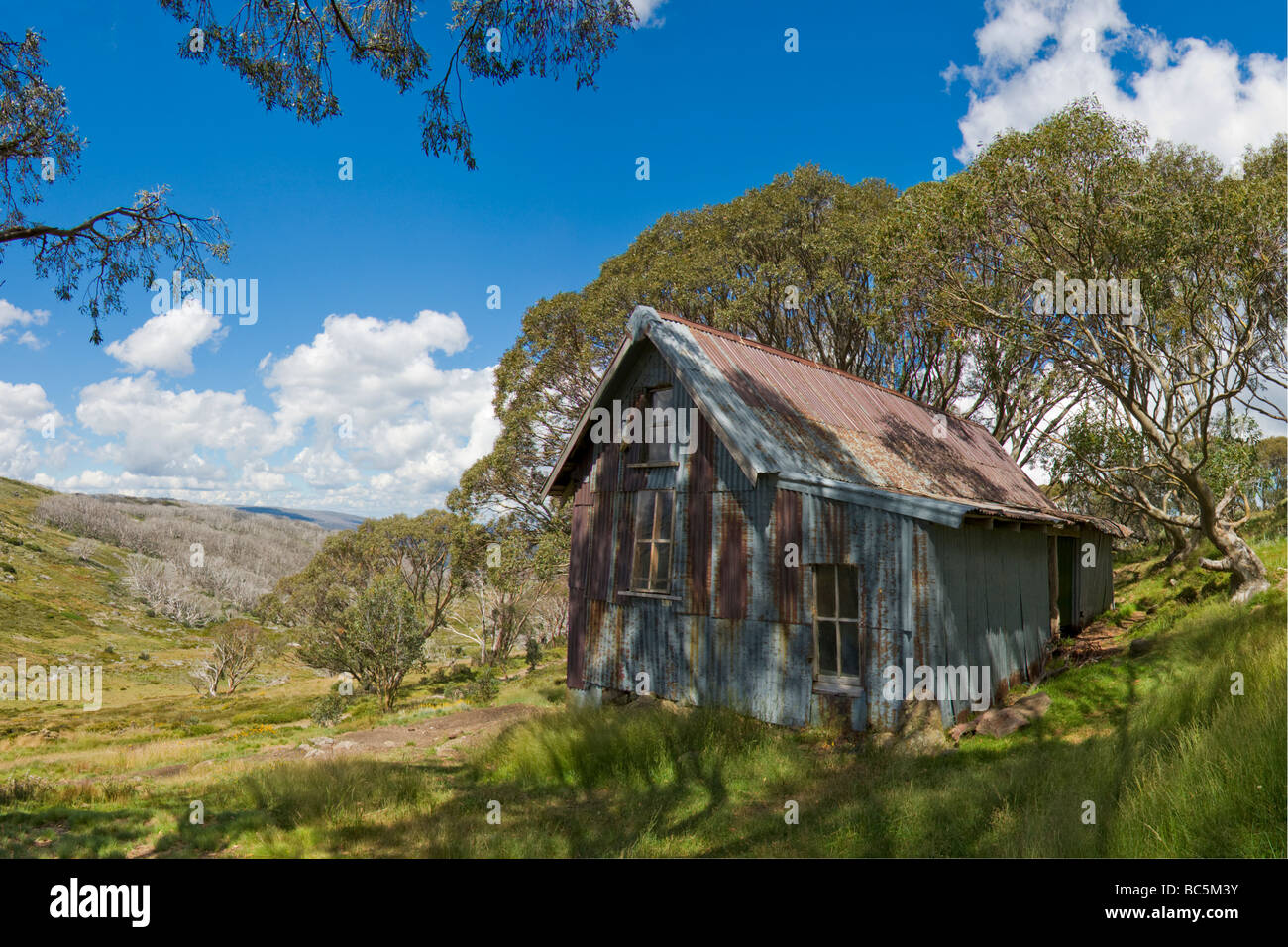 Cope Hut on the Bogong High Plains, Victoria, Australia - Stock Image