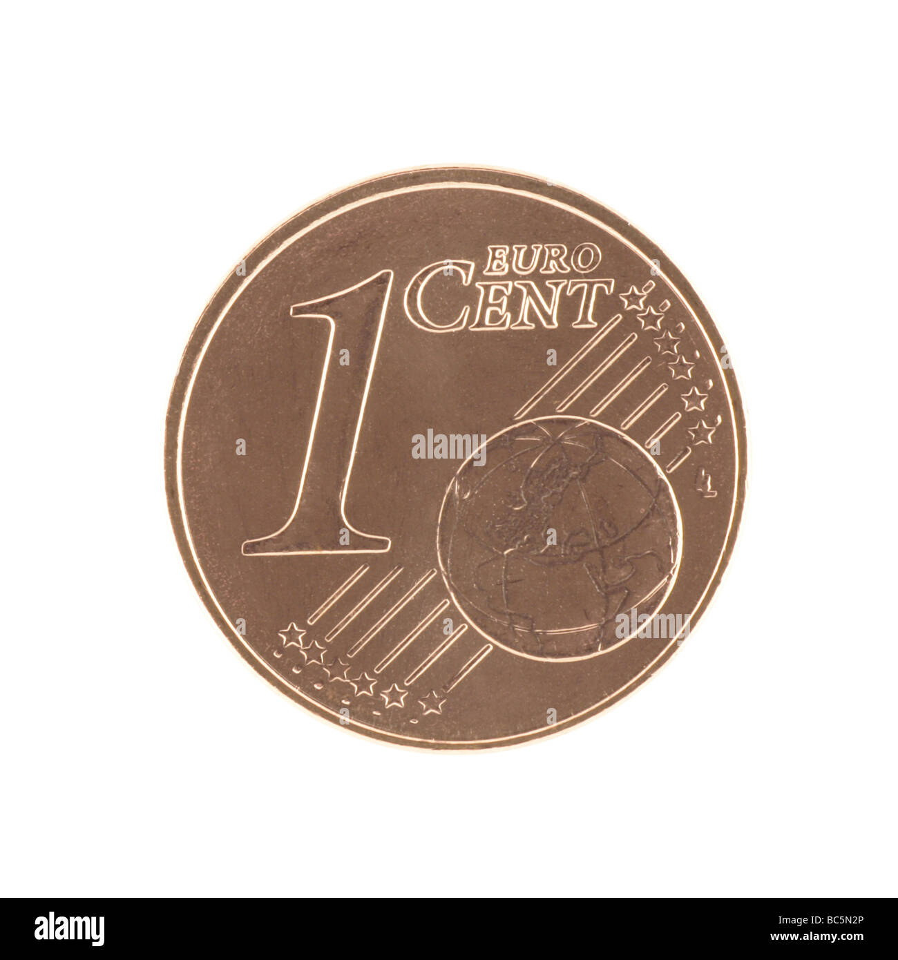 1 eurocent - Stock Image