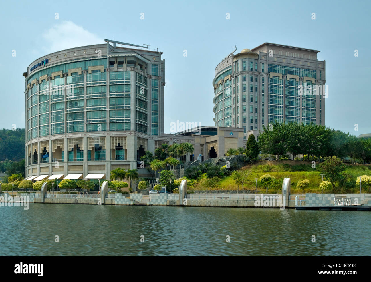Menara PjH, the first large scale commercial office building in Putrajaya - Stock Image