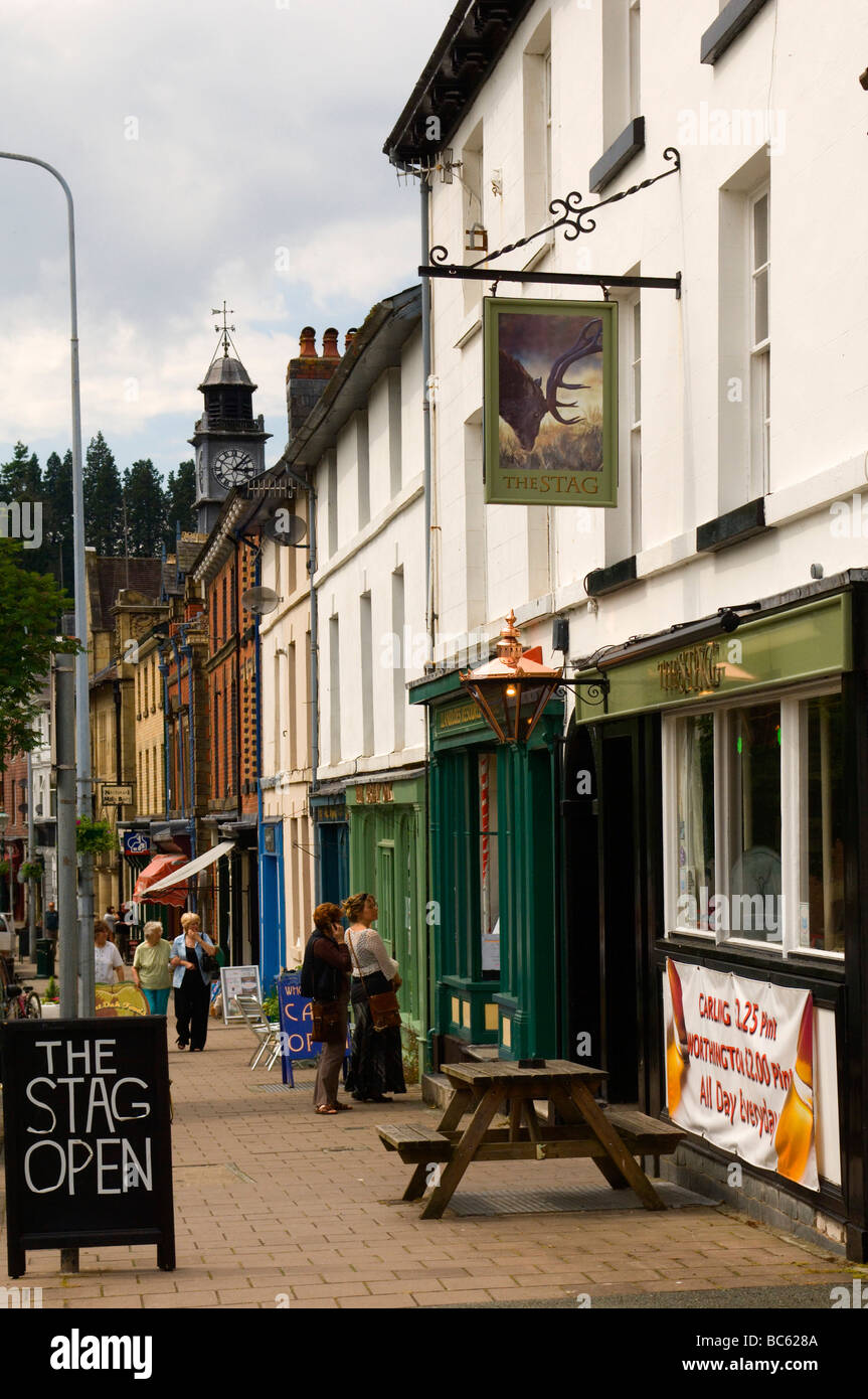 Llanidloes, Powys, Wales, UK - Stock Image
