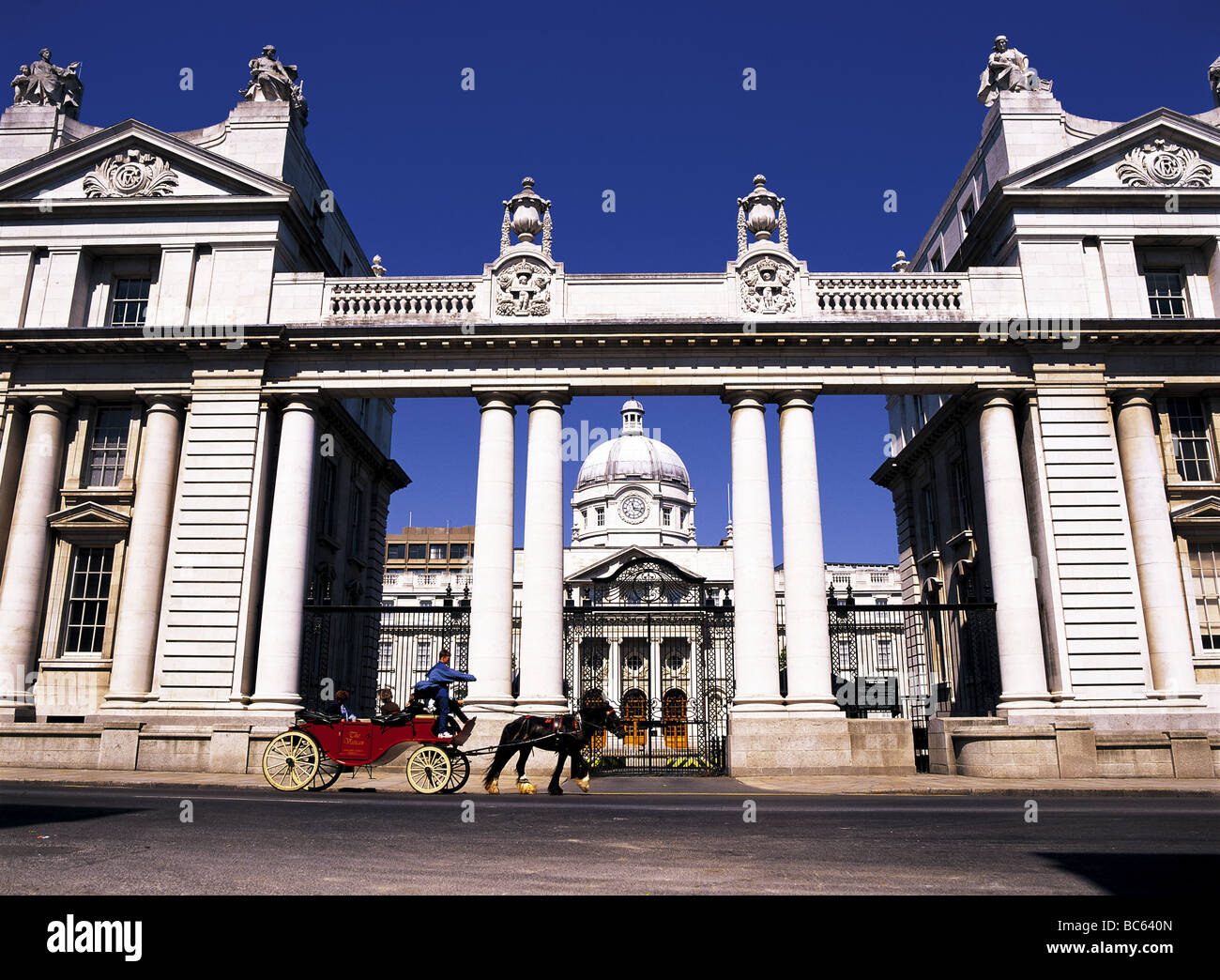 Leinster house national parliament  of Republic of Ireland Dublin Ireland Eire Stock Photo