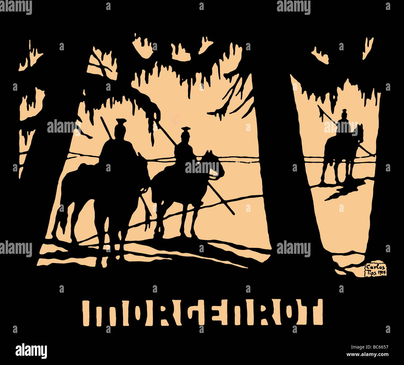events, First World War / WWI, propaganda, 'Morgenrot' (Dawning), after a silhouette by Carlos Tips, Germany, - Stock Image
