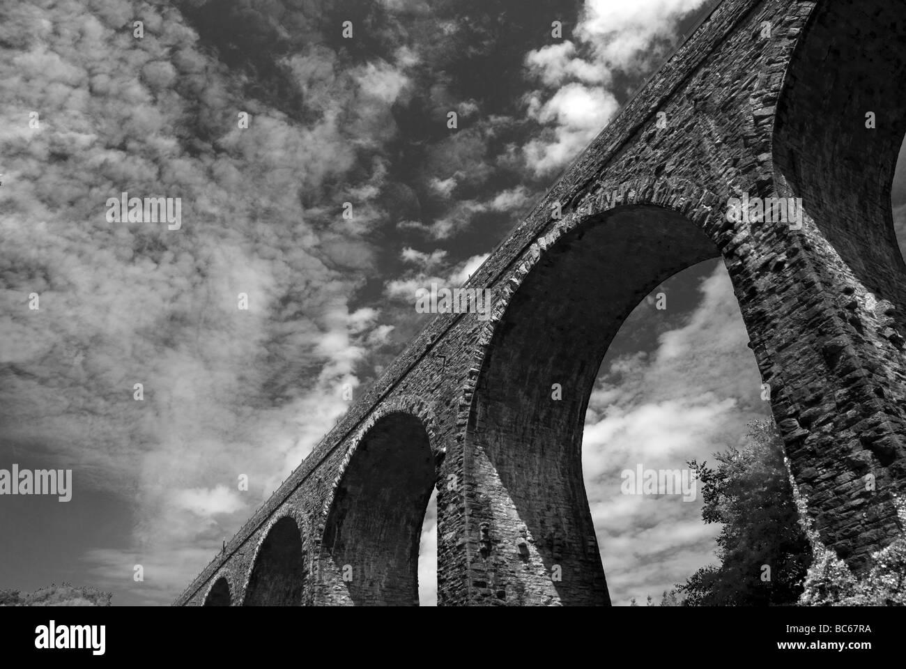 Hookshill viaduct designed by Isambard Kingdon Brunel,Paignton,Torbay - Stock Image
