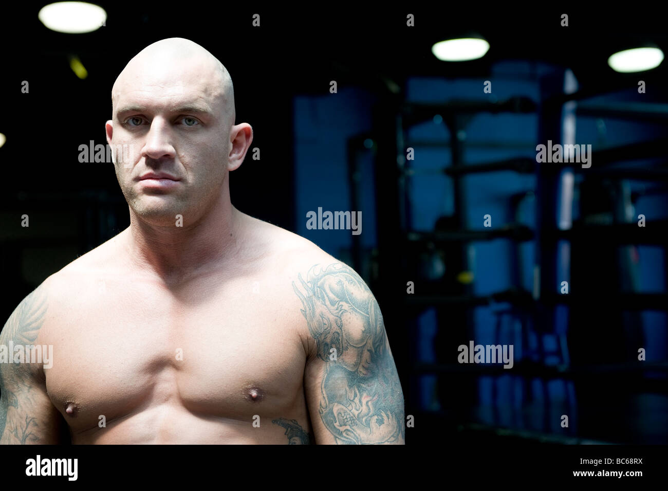 Portrait of a UFC fighter - Stock Image