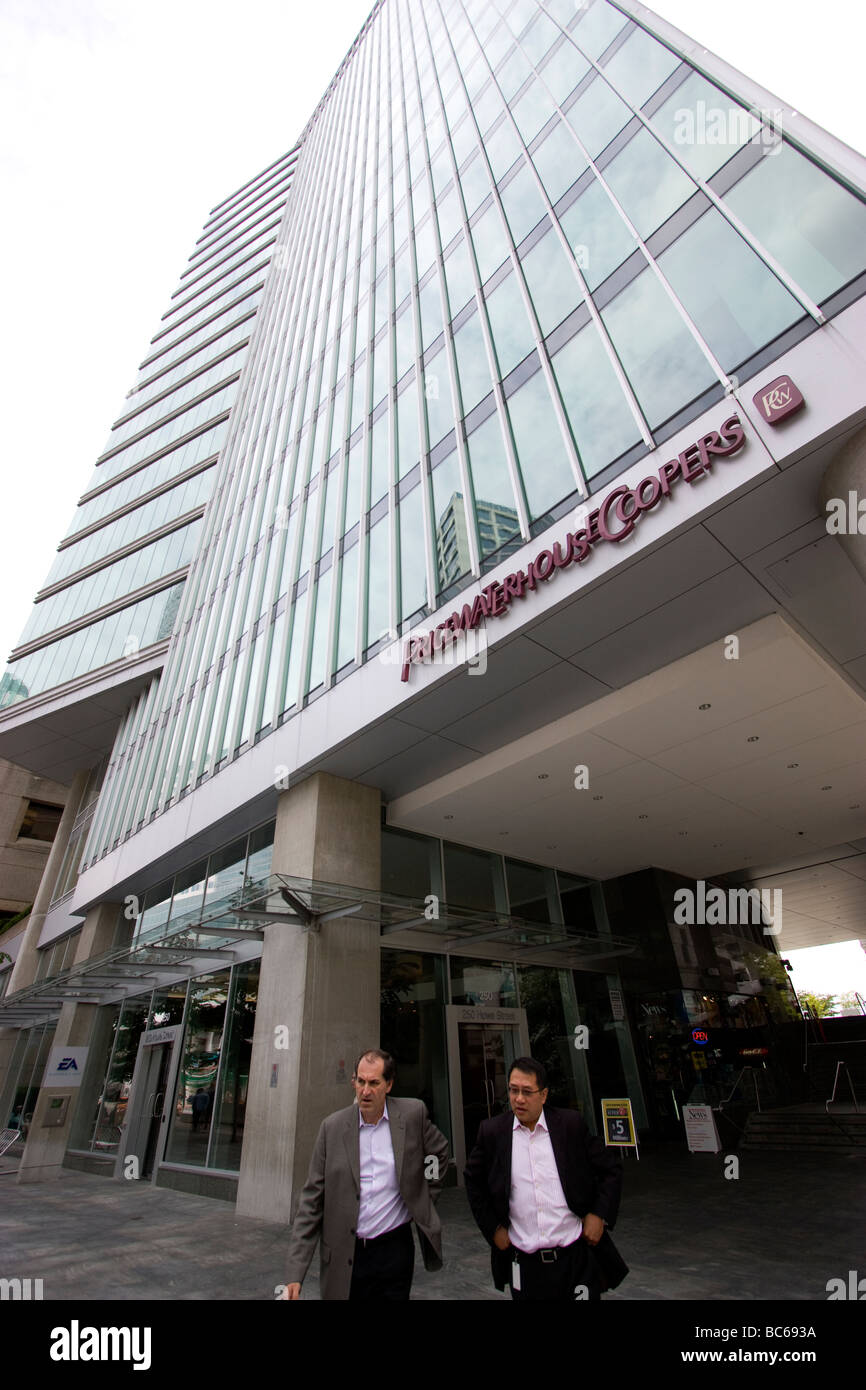Price waterhouse coopers Pwc downtown Vancouver - Stock Image