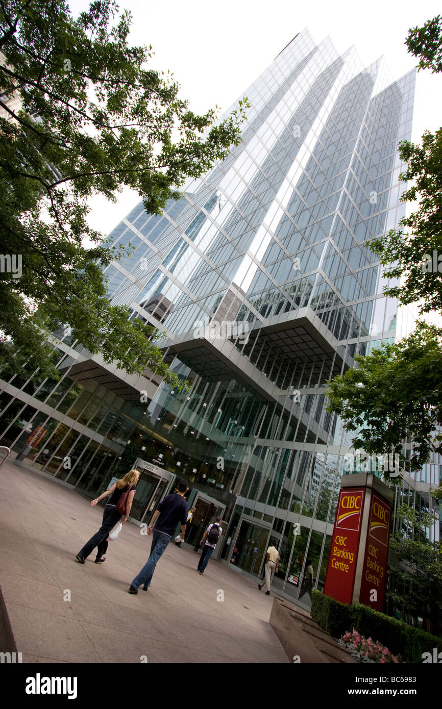 CIBC banking centre downtown Vancouver - Stock Image