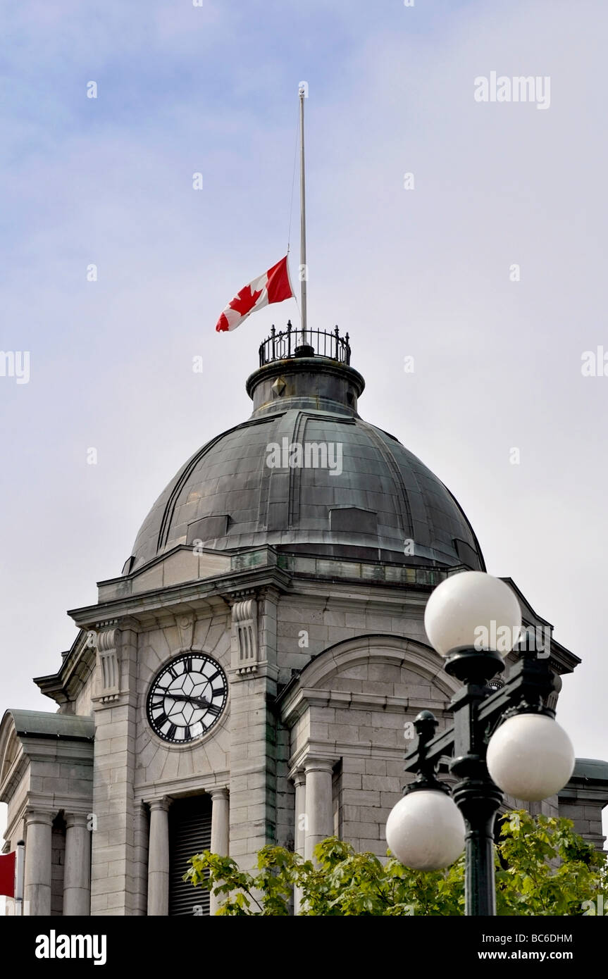 Old Clock Tower Post Office, Quebec City, Canada - Stock Image