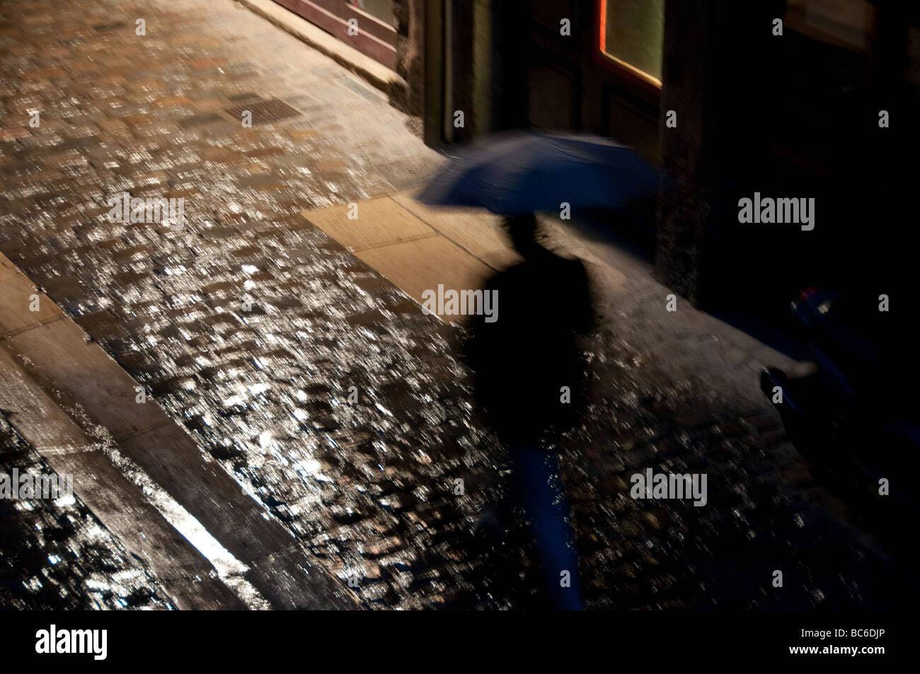 Rain, Lyon France - Stock Image