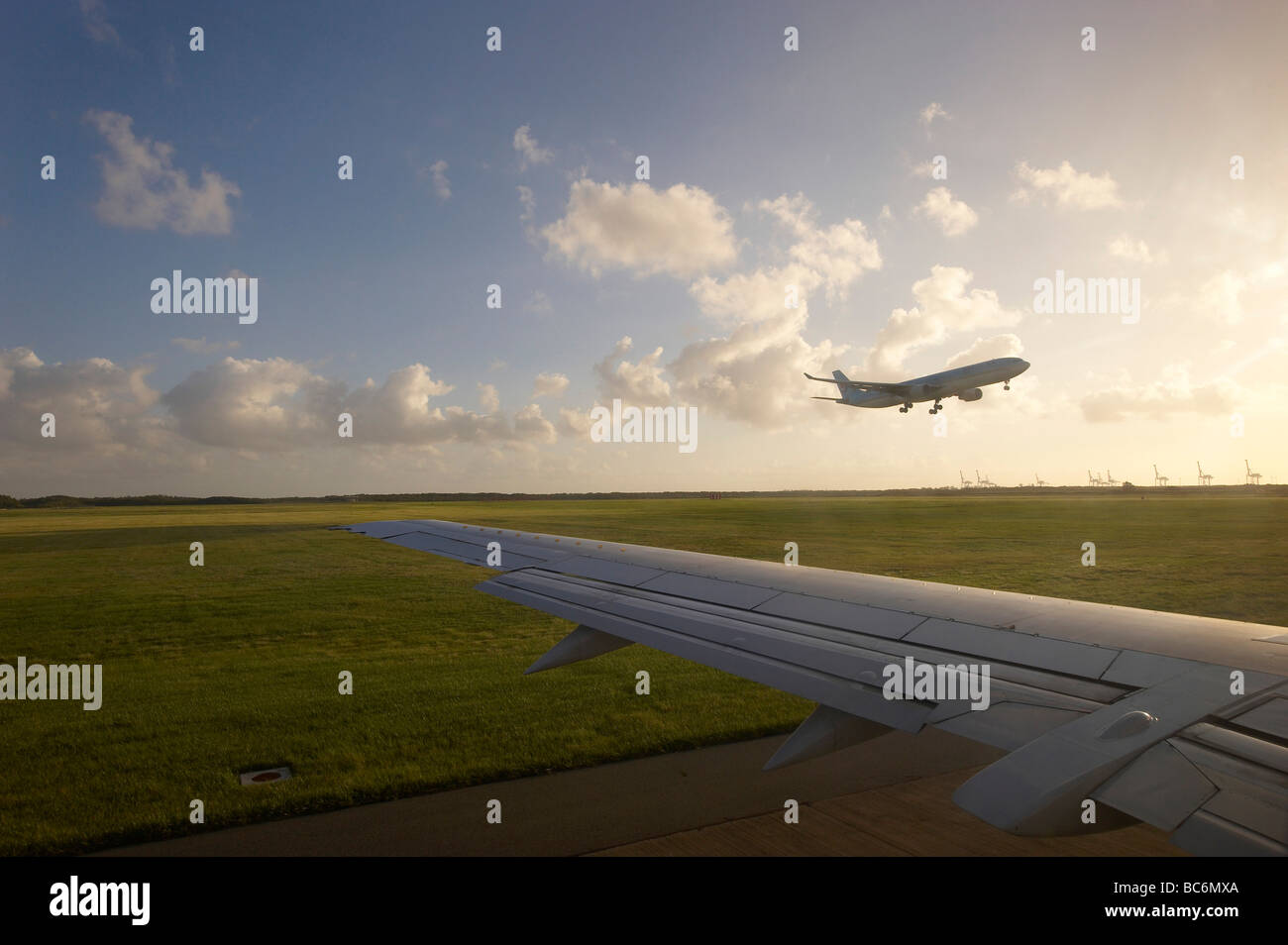 Aircraft taking off Stock Photo