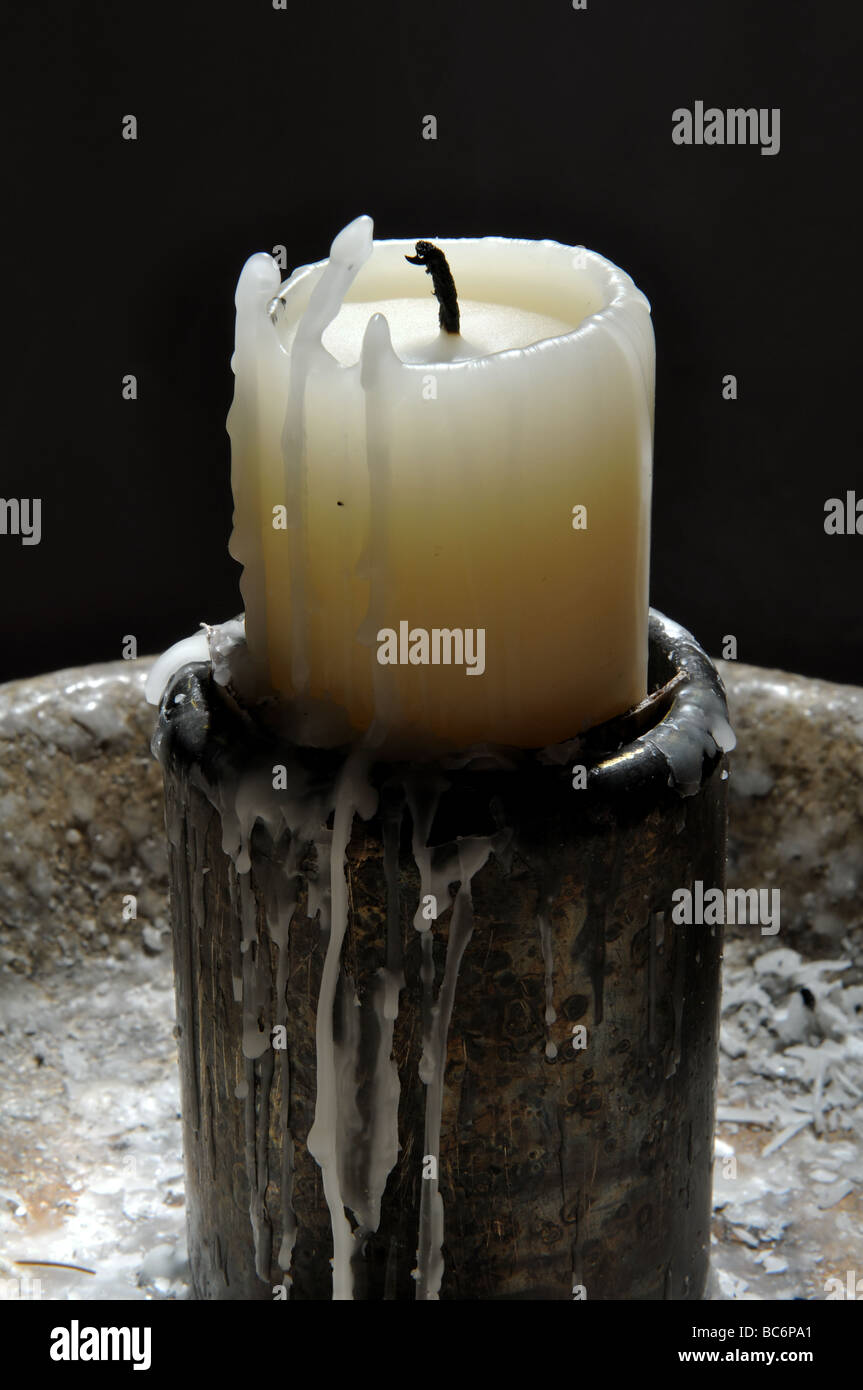 Candle in a church - Stock Image