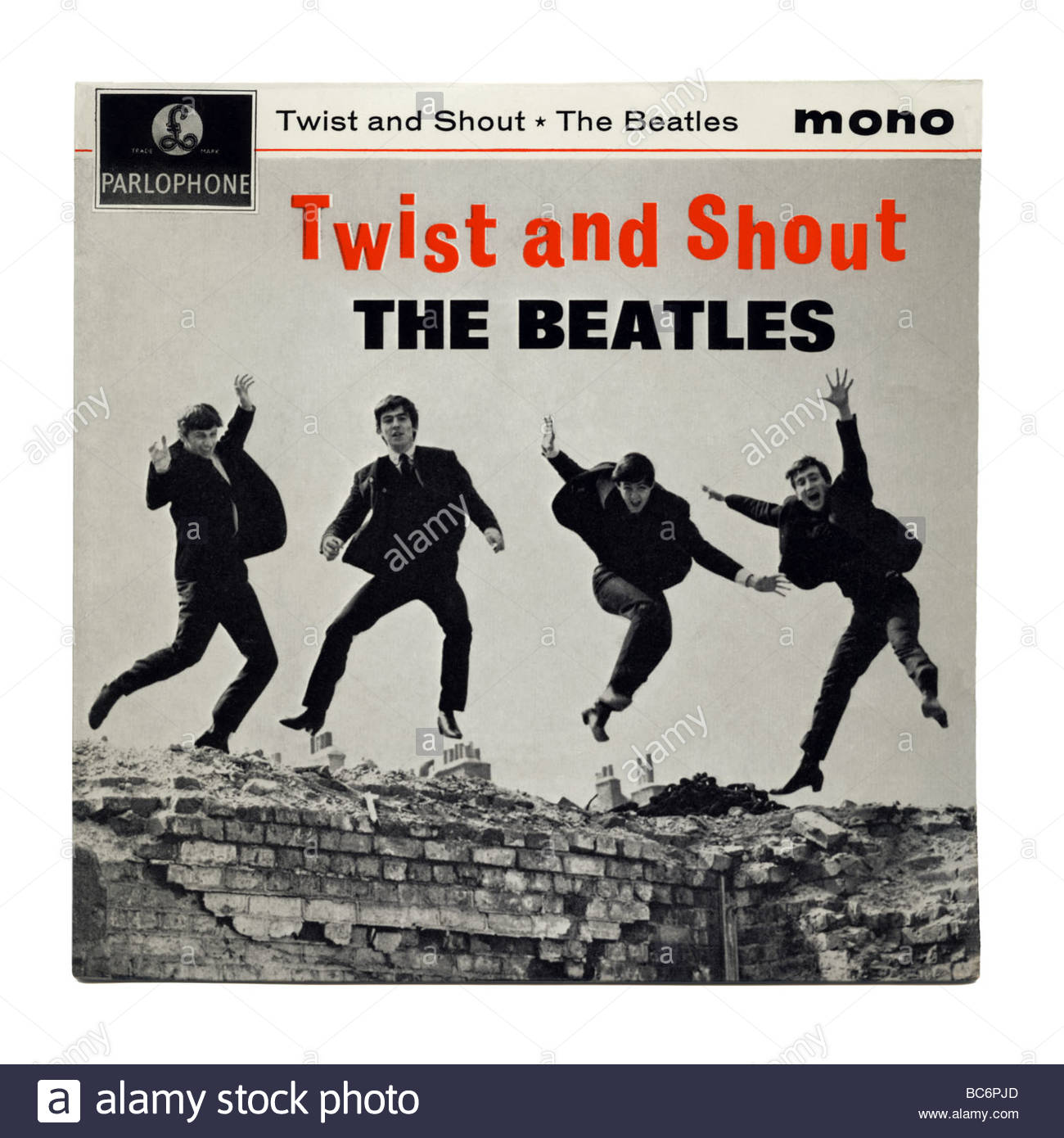 'Twist and Shout' by The Beatles, an EP record first released in 1963 - Stock Image