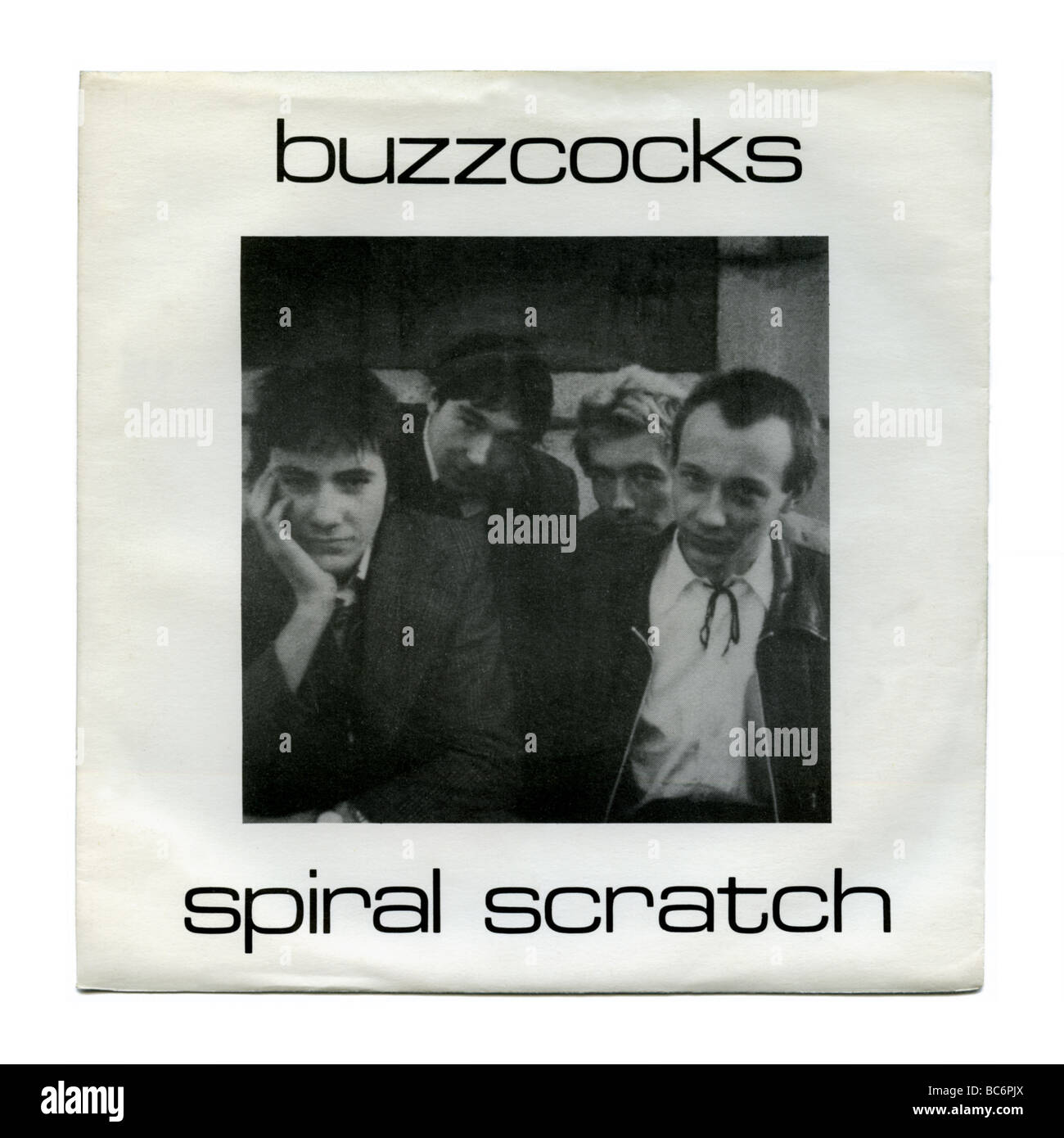 'Spiral Scratch' EP by The Buzzcocks, a punk rock record first released in 1977 - Stock Image