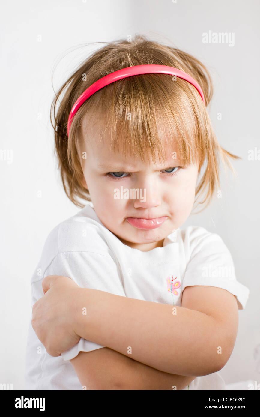pouting girl Stock Photo