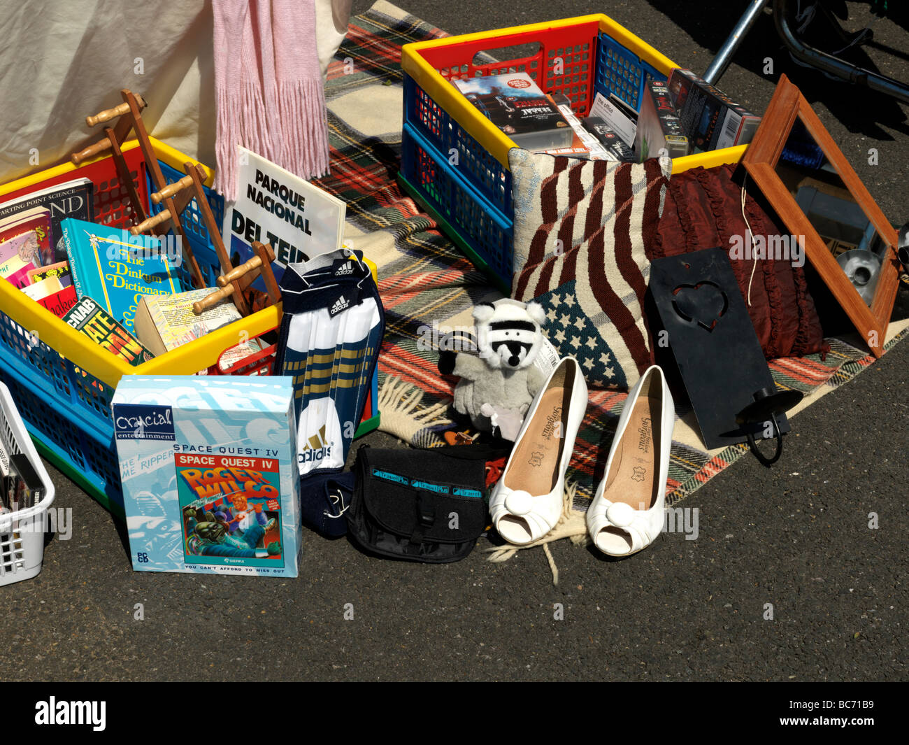 Car Boot Sale to Raise Funds for Epsom Hospital - Stock Image
