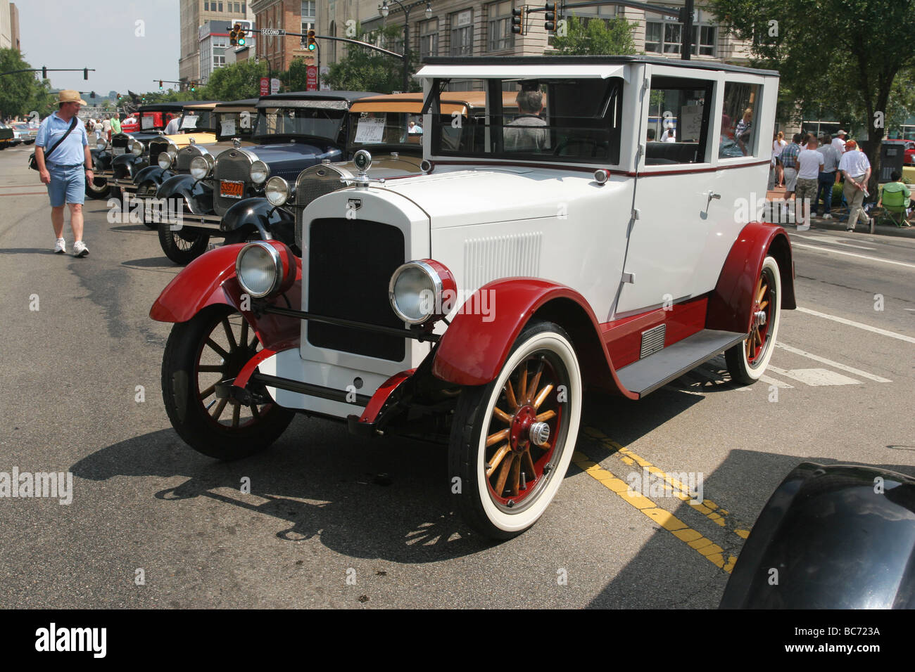 Auto 1923 Auburn 643 Two Door Touring Sedan Car Show at Hamilton Ohio - Stock Image