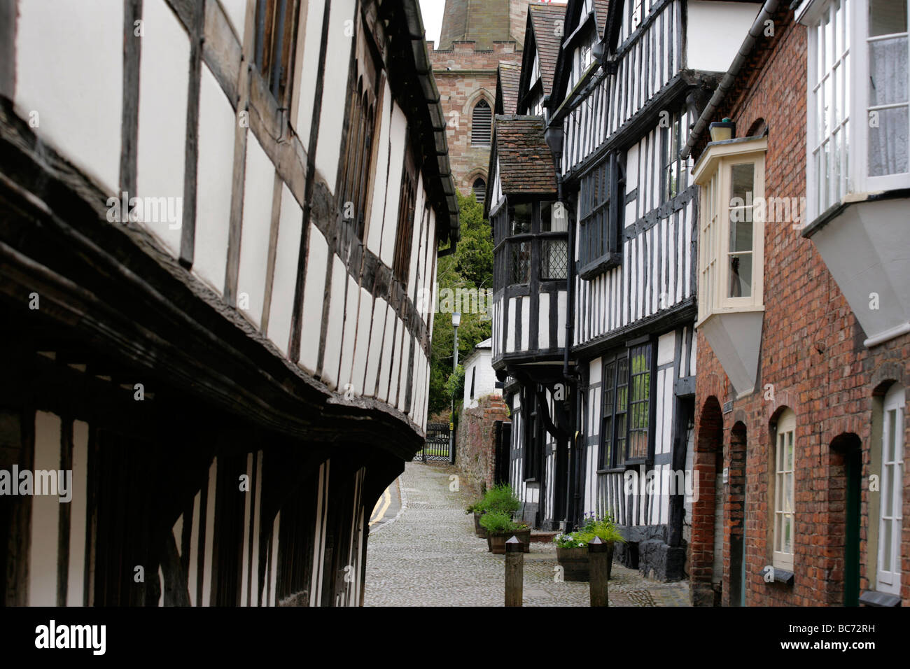 Church Lane in Ledbury, Gloucestershire, UK - Stock Image