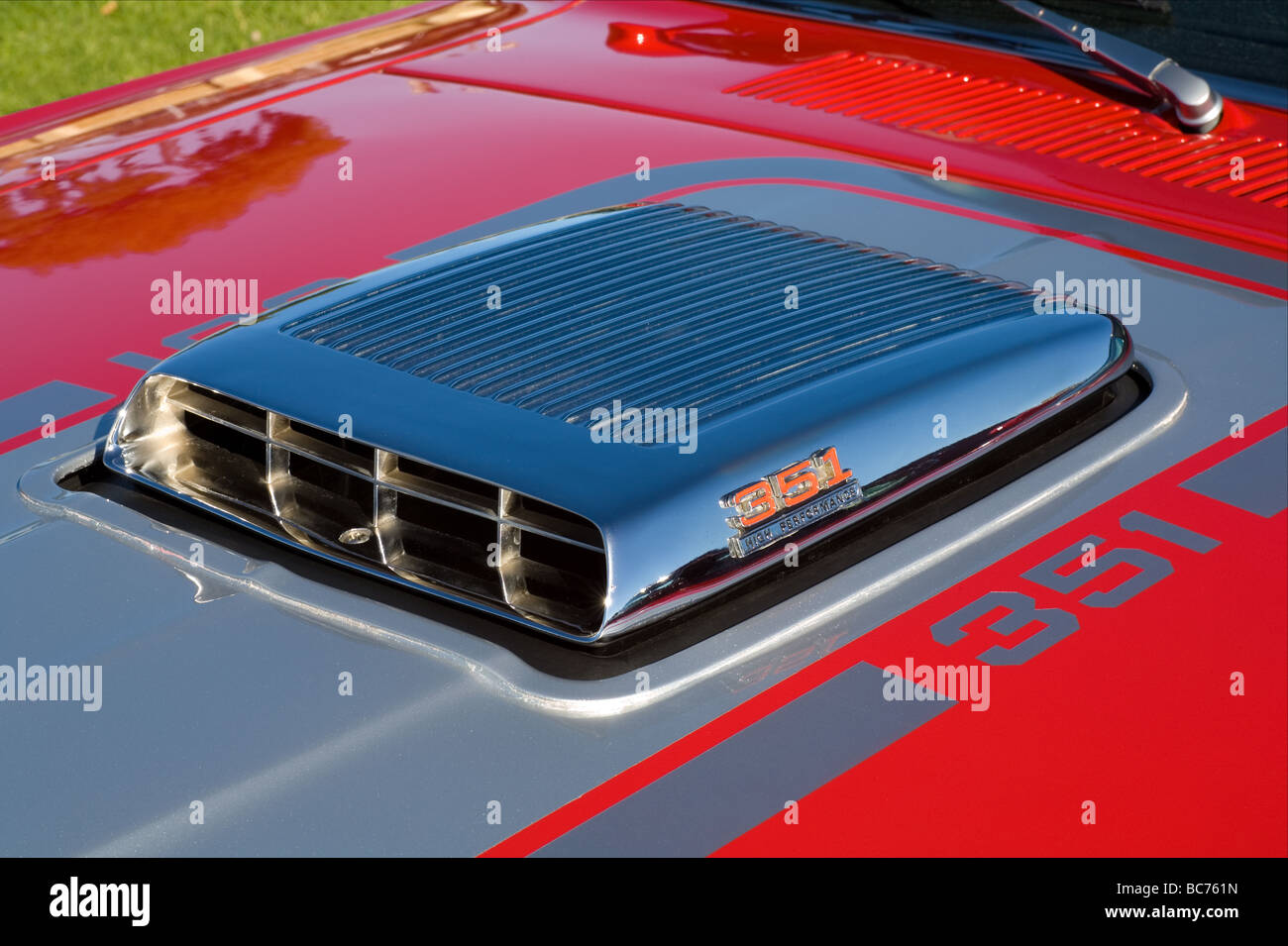 Air Intake Scoop On The Bonnet Of A Highly Modified 1970s Model
