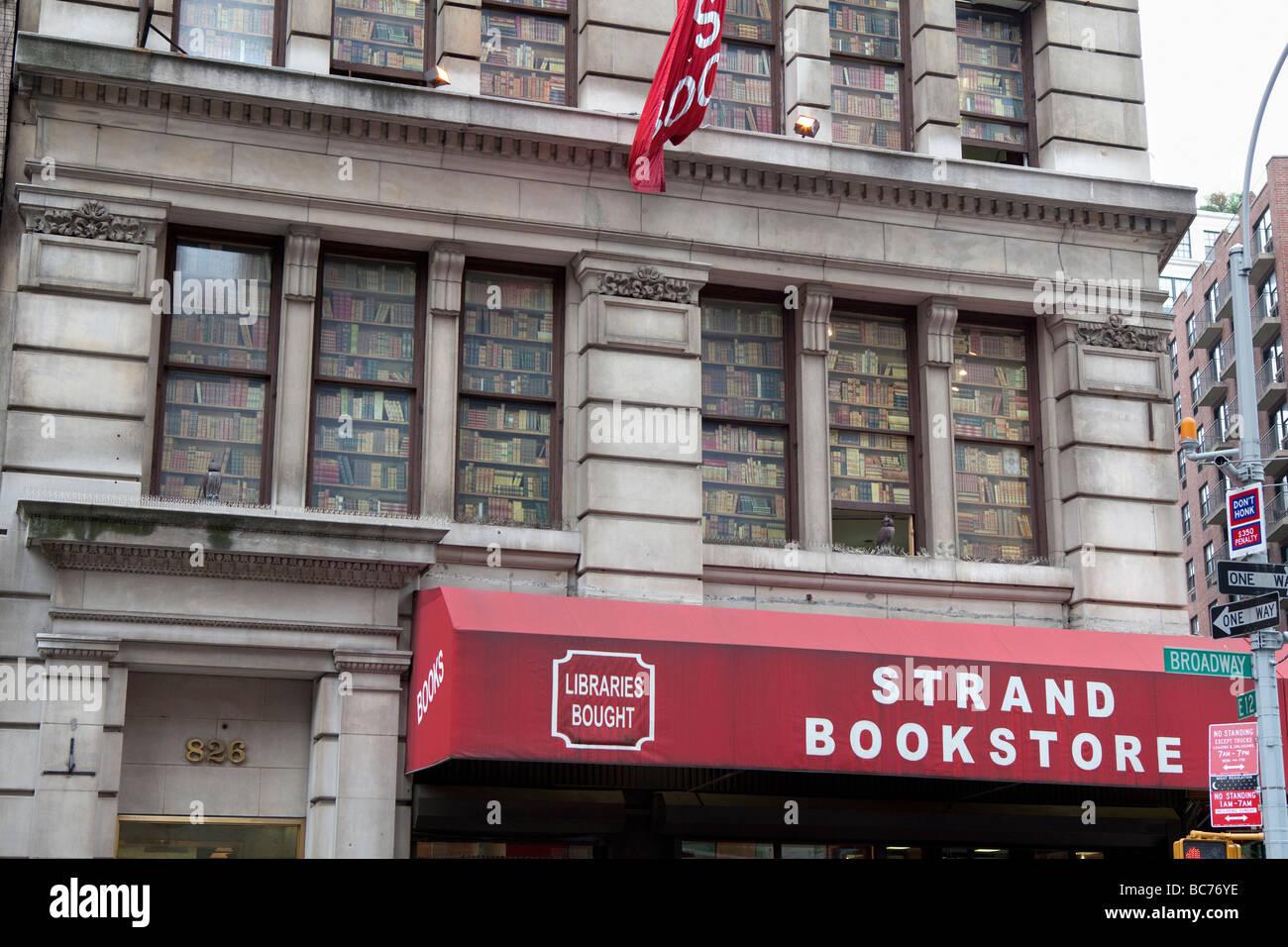 Strand Bookstore NYC - Stock Image