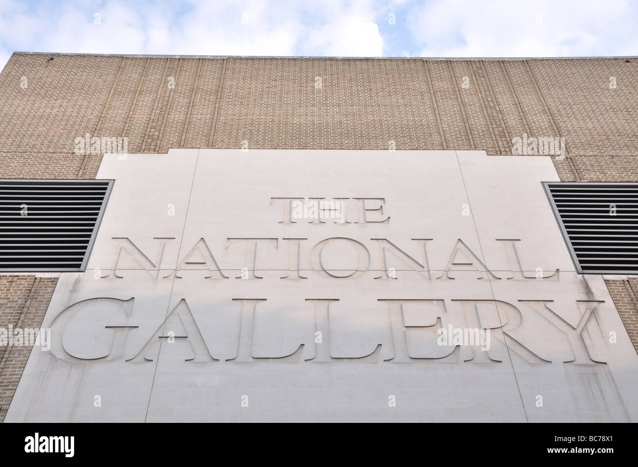 Front of the National Gallery, London, UK Stock Photo