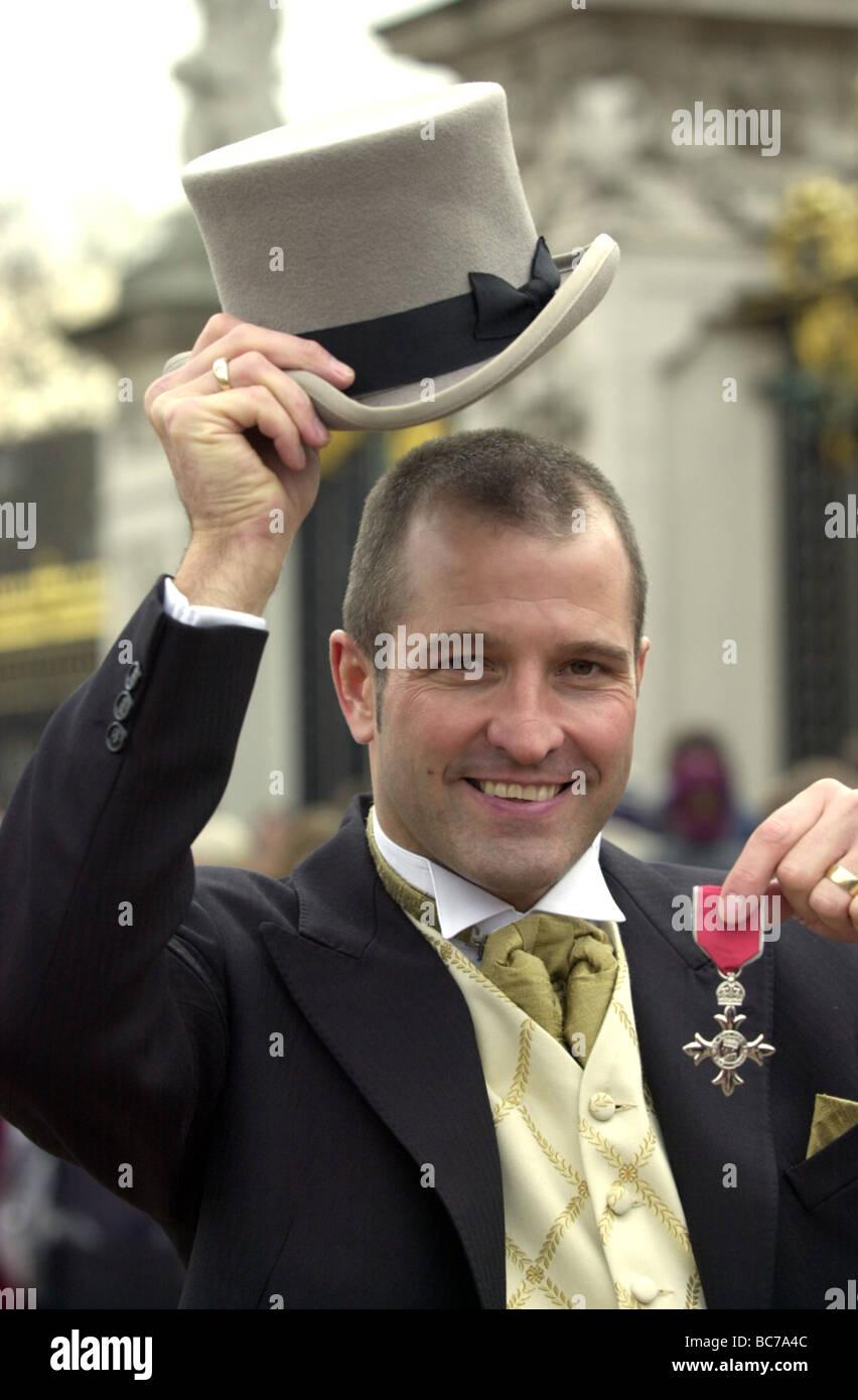 Footballer Steve Bull with his OBE medal - Stock Image