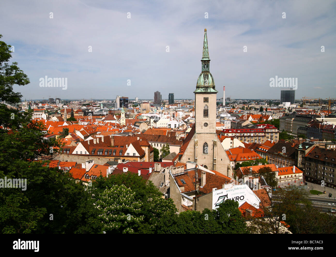 Church where kings were crowned in Bratislava, Slovakia's old town. - Stock Image