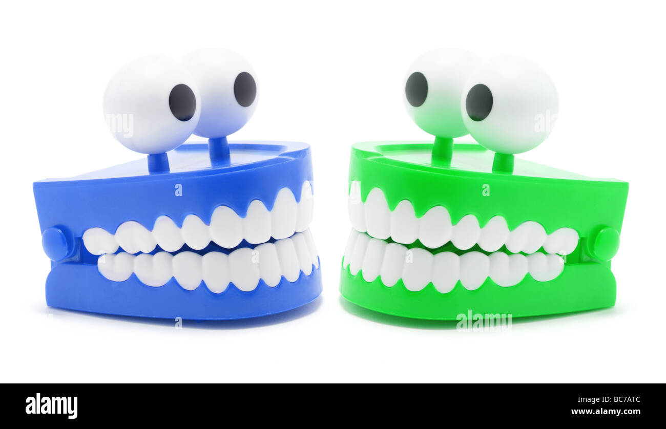 Chattering Teeth Toys - Stock Image