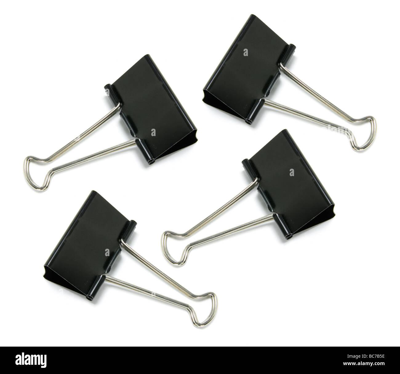 Foldback Paper Clips - Stock Image