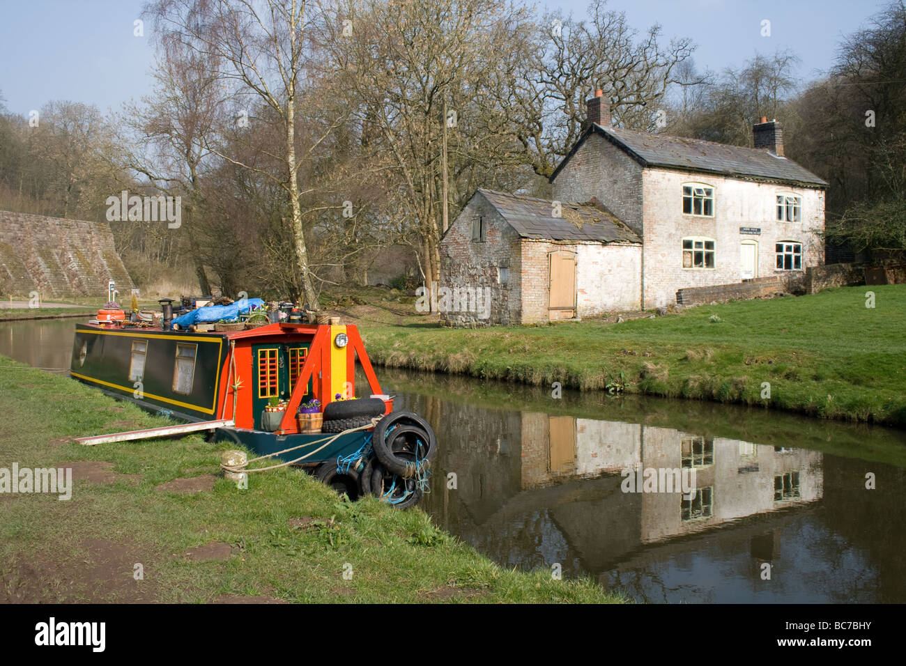 Cauldon Canal Consall Staffordshire 19th April 2009 - Stock Image
