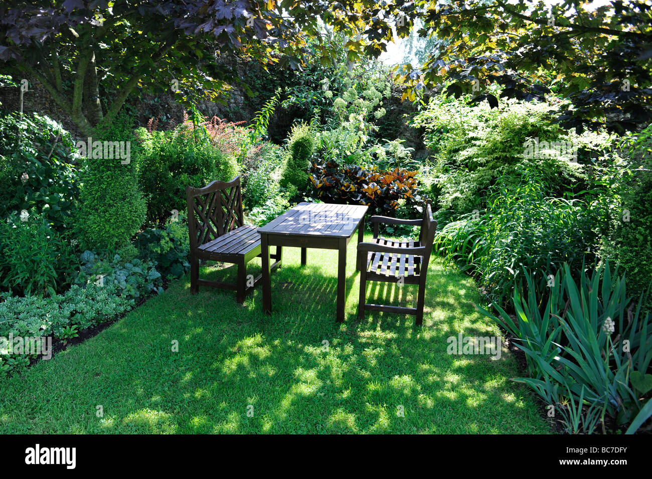 English Garden Garden Table Chairs High Resolution Stock
