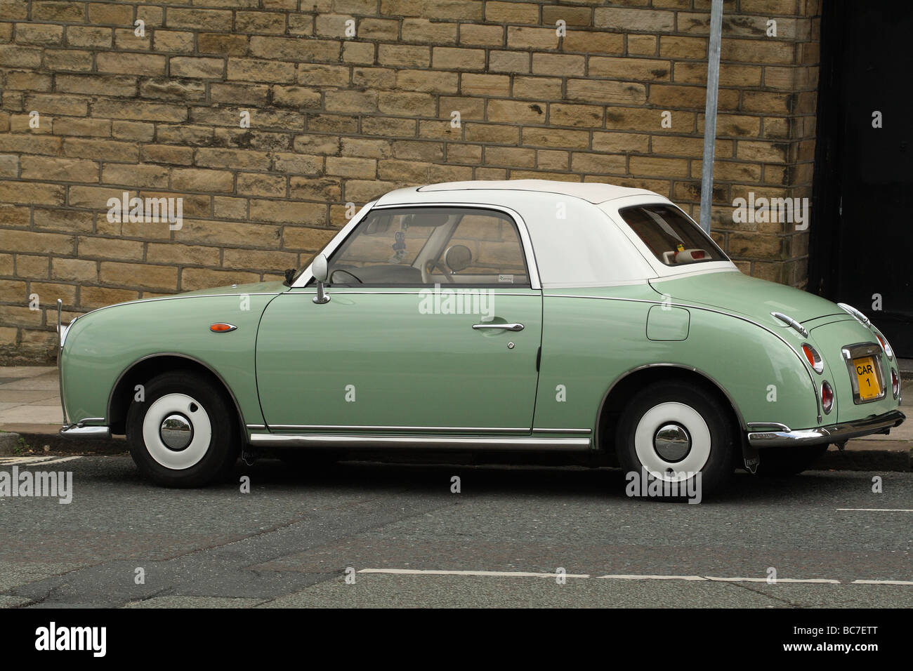 Nissan Figaro made small automatic retro cars made circa 1993 Stock ...