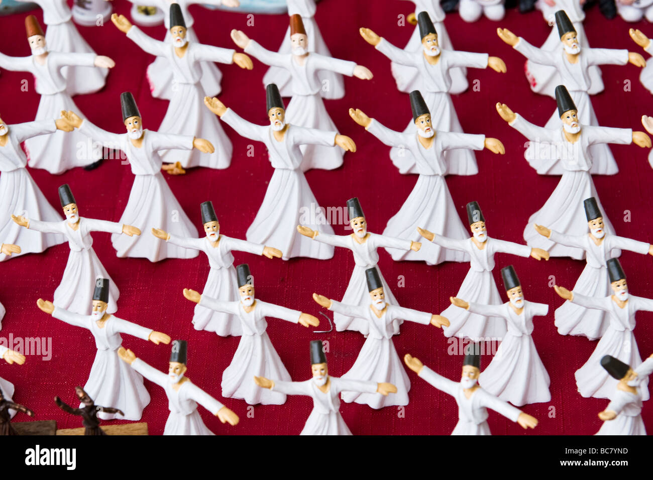 Turkey , Istanbul , market stall of model Mevlevi Order or Whirling Dervishes which relates to the Sema Ritual Selams - Stock Image