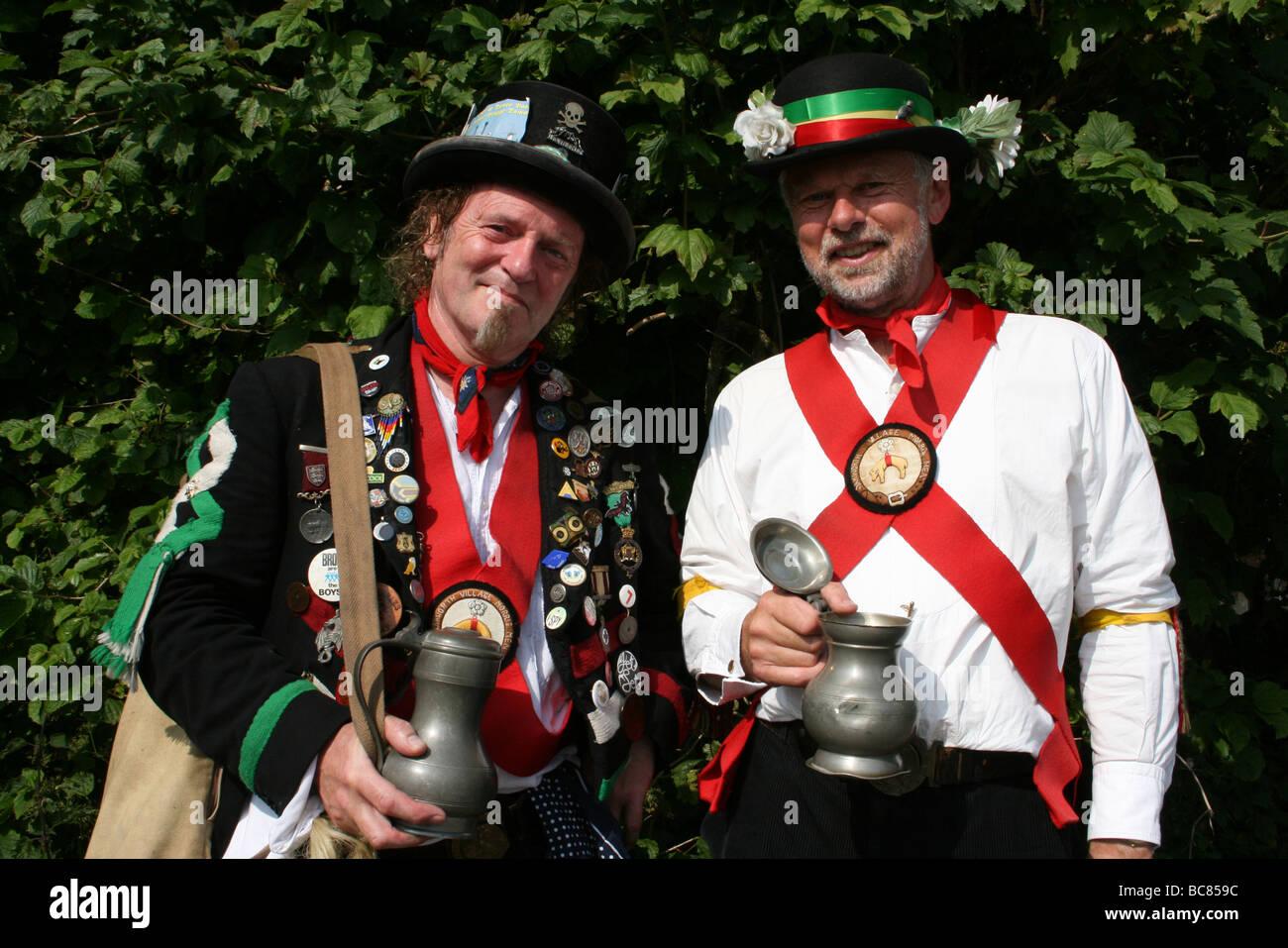 Morris Men Taken In Malham, Yorkshire, England, UK - Stock Image
