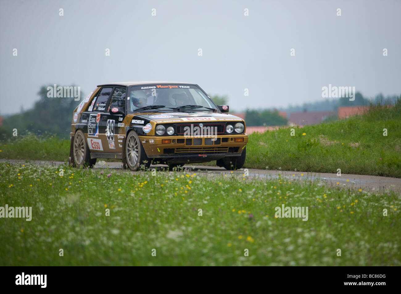 Lancia Delta at the AvD Rallye Baden-Württemberg 2009 - Stock Image