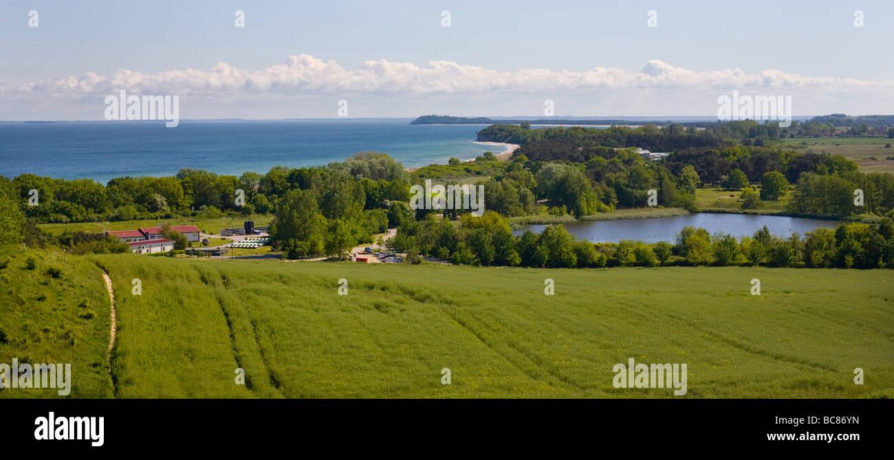Landscape on the Island Ruegen - Stock Image