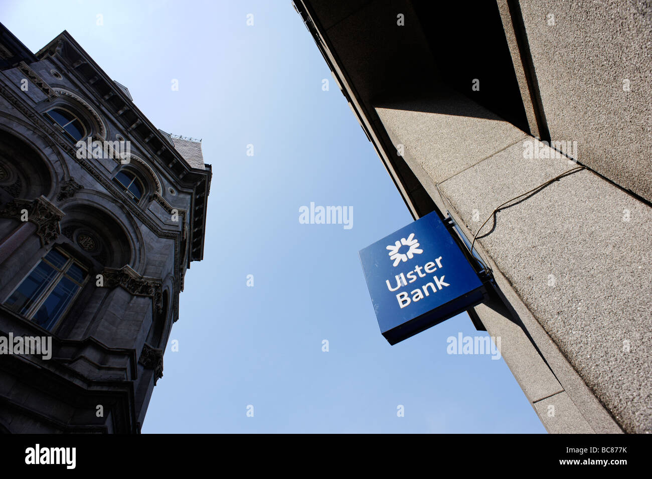 Ulster bank sign in central Dublin Republic of Ireland - Stock Image